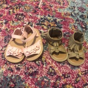 3/6 month/ size 1 baby girl summer sandals